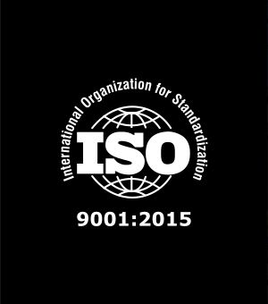 We are certified according to ISO 9001:2015 and 14001:2015 quality standards